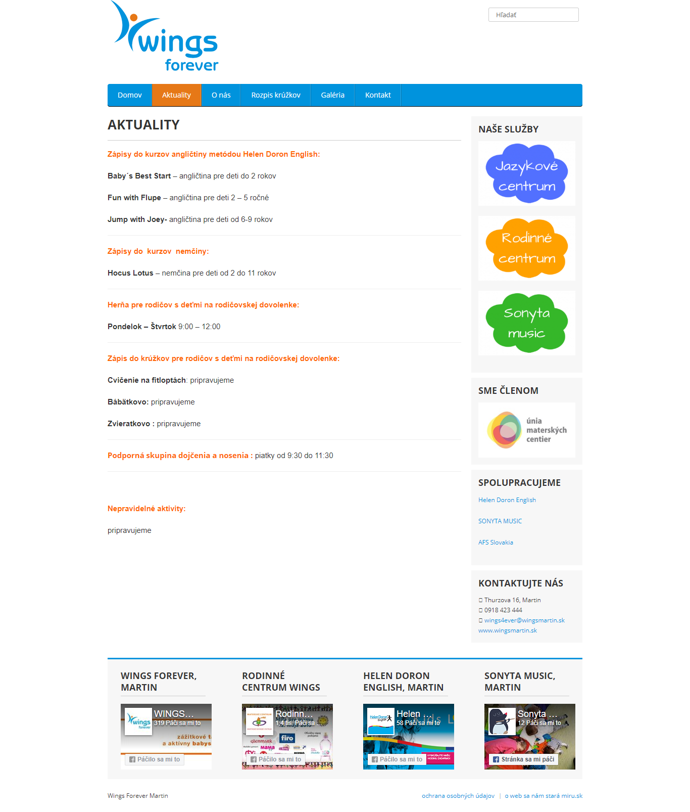 wingsmartin.sk.aktuality